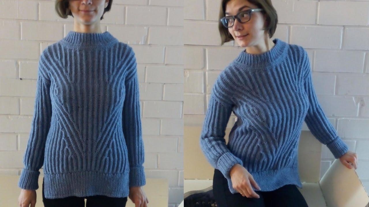 свитер английской резинкой убавки прибавки эластичный край Youtube