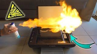 Experiment - Was passiert, wenn ich eine RIESEN FLAMME mit einem DRUCKER kopiere?
