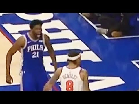 Joel Embiid TAUNTS MICHAEL BEASLEY AFTER HE GETS DUNKED ON!!!
