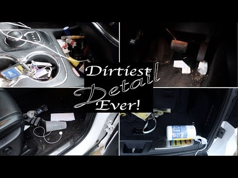 Detailing The Dirtiest Durango Interior & Exterior Ever! Car Cleaning Transformation