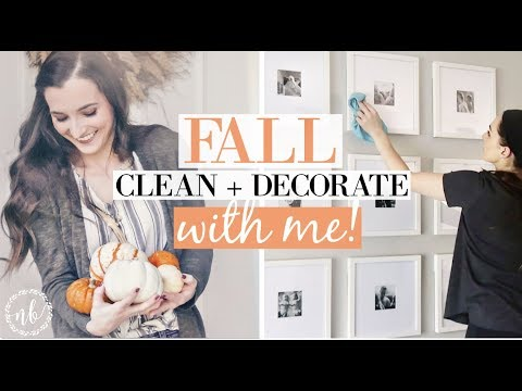 FALL CLEAN + DECORATE WITH ME 🍂| Cleaning Motivation + Halloween/Harvest Decor Inspiration