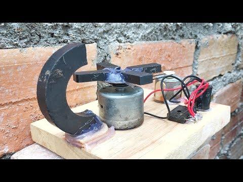 New Free Energy Technology With Light Bulb Using DC Motor , Self Running Machine 2019