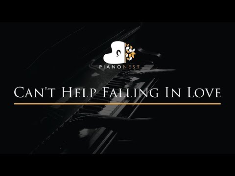Can't Help Falling In Love - Piano Karaoke / Sing Along Cover With Lyrics