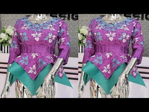 Circle Top Cutting Tutorial | Handkerchief Hemline Blouse | Peplum | Circle Top | Sewing Tutorial