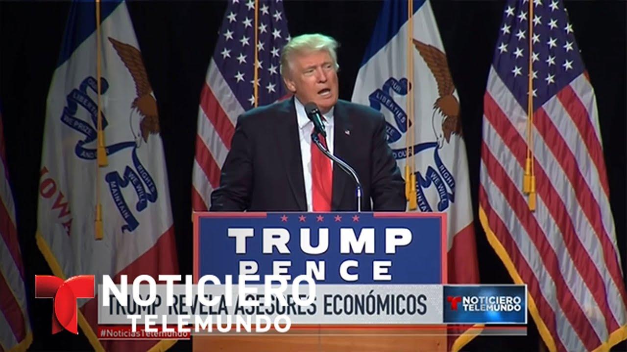 Donald Trump revela sus asesores en materia de economía | Noticiero | Noticias Telemundo
