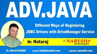 Different ways of registering JDBC Drivers|  Advanced Java Tutorial  |  Mr.Natraj