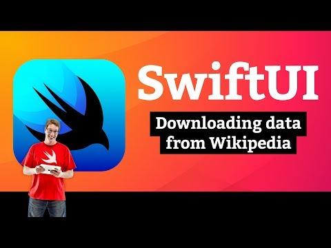 Downloading data from Wikipedia – Bucket List SwiftUI Tutorial 10/13 thumbnail