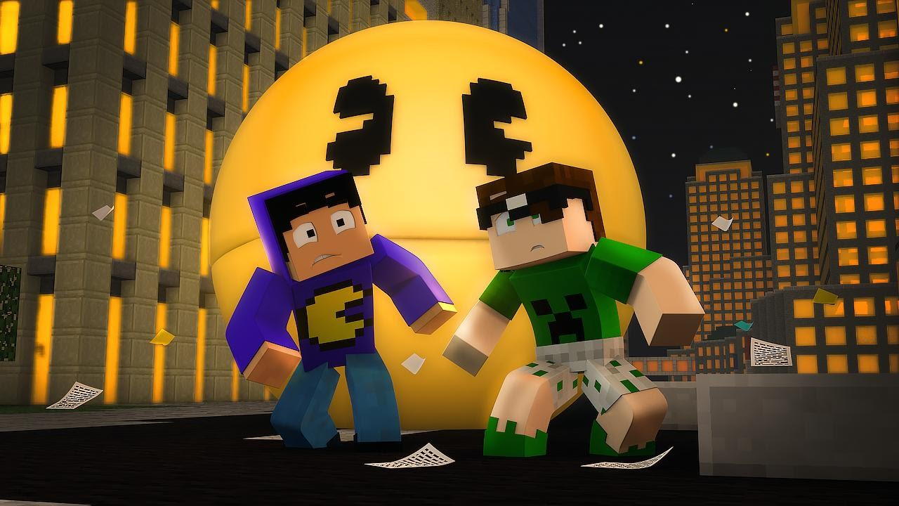 Minecraft Com The Game : Minecraft pacman vai nos matar esconde mini