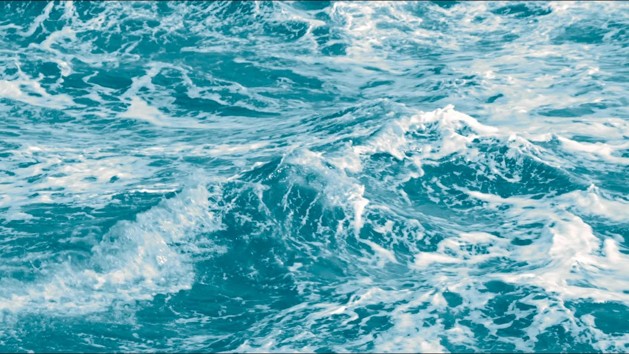 Blue Ocean Waves Slow Motion