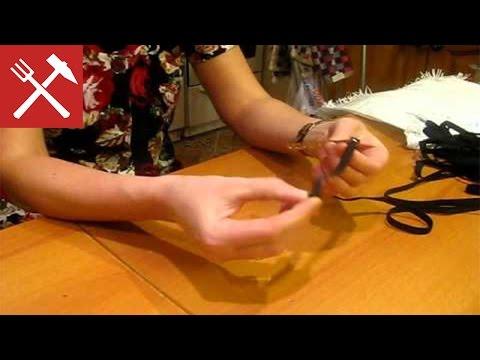 Как вставить шнурок в штаны