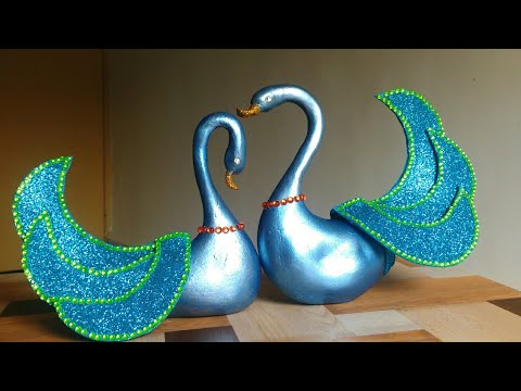 DIY Craft – Blue swan ornaments | Wedding gift idea | Tutorial | By Punekar Sneha.