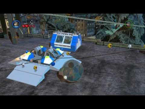 LEGO Batman 2 DC Super Heroes - All Gold Bricks in Gotham City North - Residential/Theater Area
