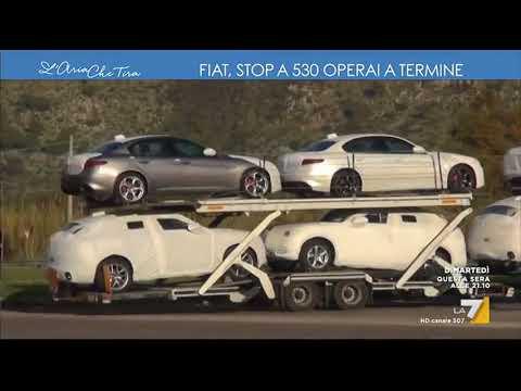 Fiat, stop a 530 operai a termine