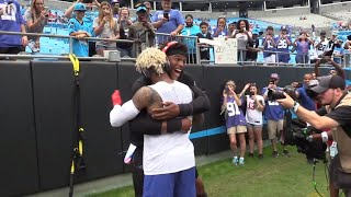 Cam Newton and Odell Beckham hangout before going head-to-head