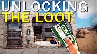 UNLOCKING the LOOT with THE NEW KEYCARD! - Rust Solo Survival