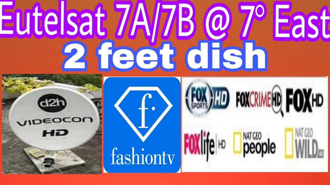 Eutelsat 7A/7B @ 7° East 2 feet dish
