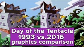 Day of the Tentacle Remastered gameplay and graphics comparison (1993 vs. 2016)