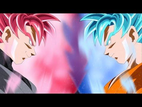 Super Saiyan Rose Goku VS Super Saiyan Blue Goku!