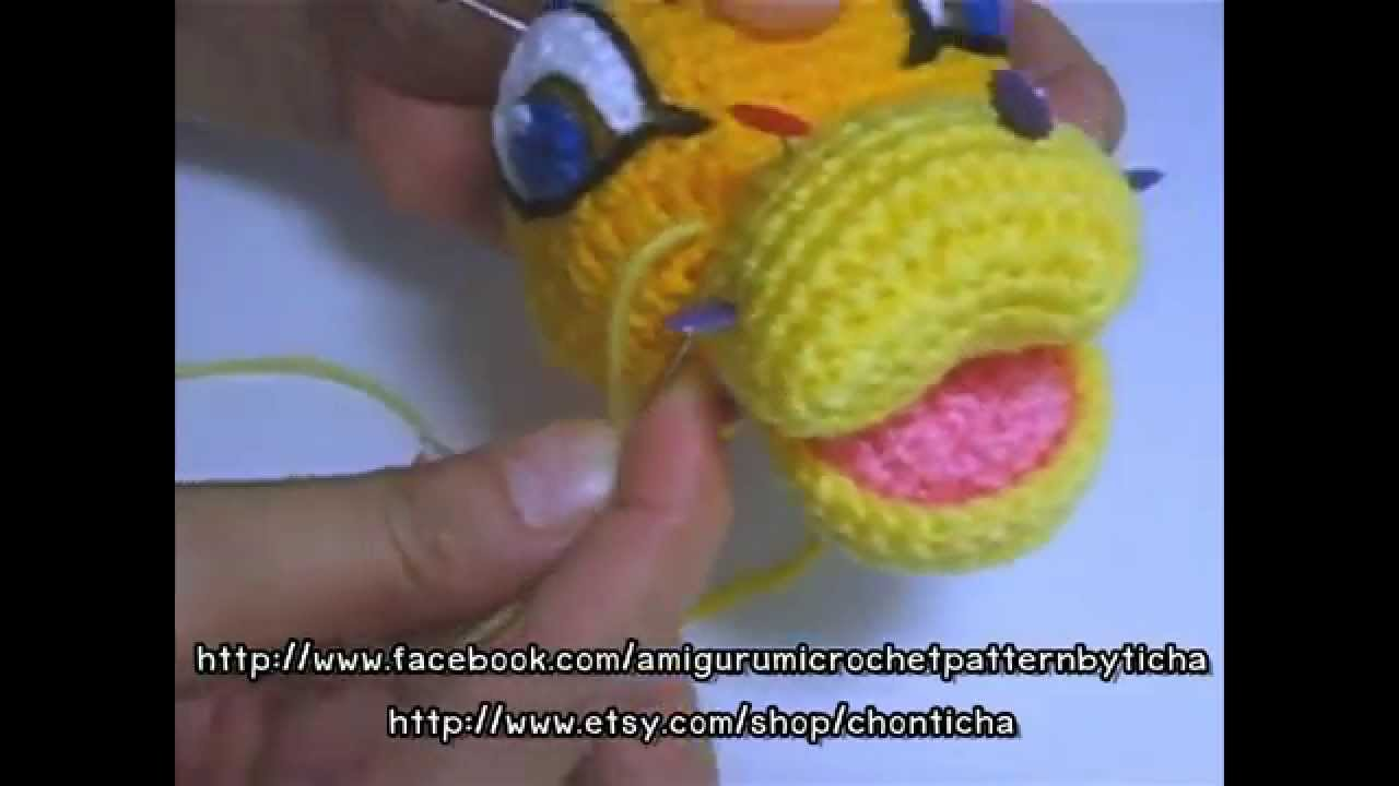 How To Sew Mouth And Nose In Place  Simba Amigurumi