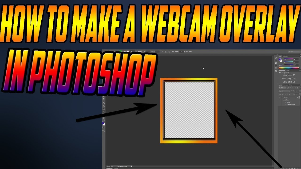 How To: Make a Webcam Overlay For FREE! (Tutorial)