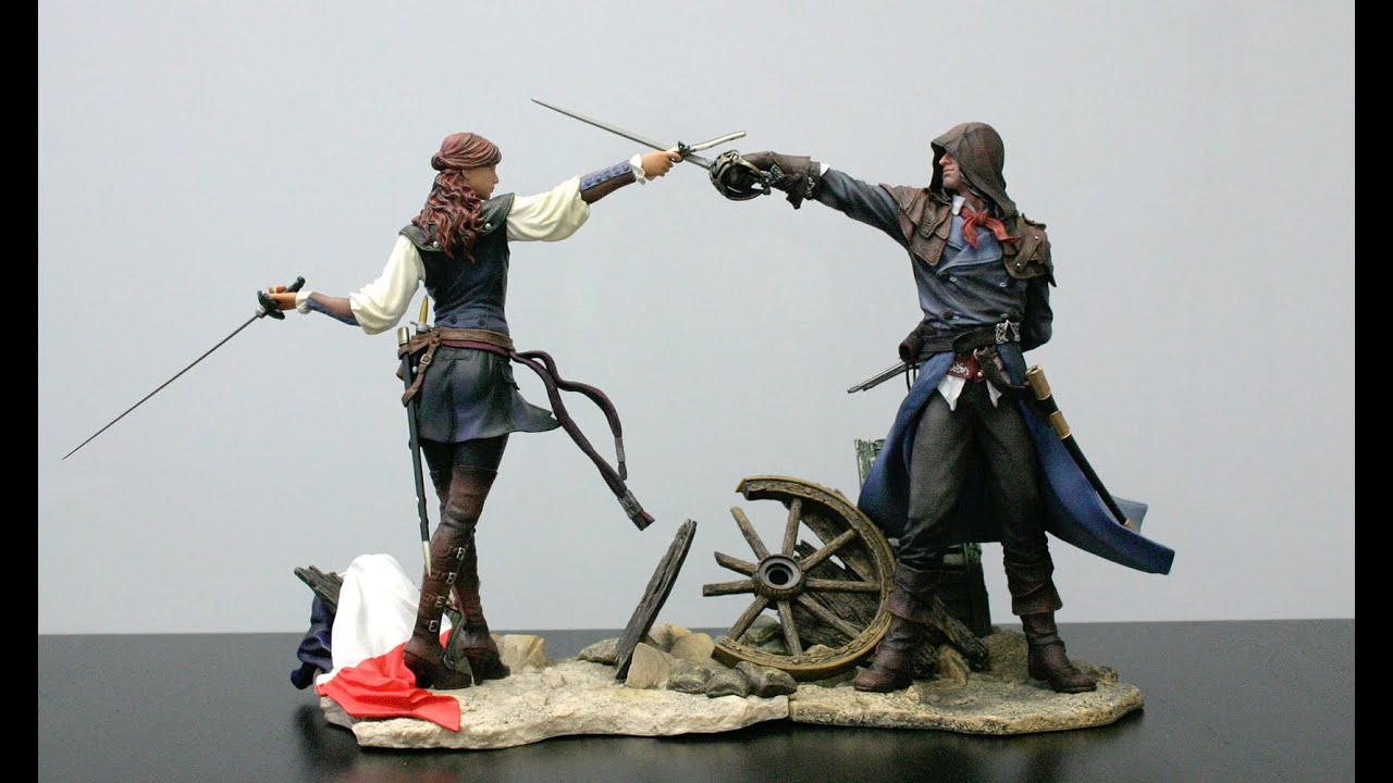 Assassins Creed Unity Arno Statue - YouTube