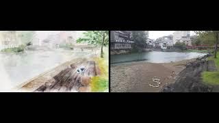 ゾンビランドサガのエンディングの景色と実際の街の景色を比較してみま...