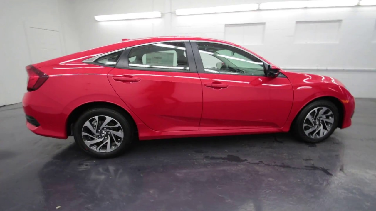 Honda Of Seattle >> 2017 Honda Civic EX | Rallye Red | HH503076 | Seattle | Burien | Renton - YouTube