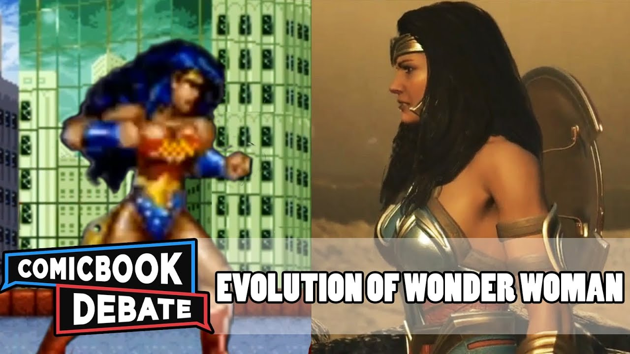 Evolution of Wonder Woman in Games in 12 Minutes (2018)