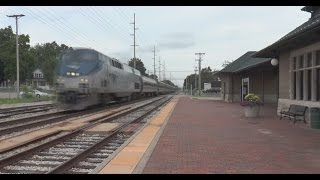 (HD) 100+ MPH Amtrak Michigan Wolverines Back to Back! (Loud) 2 Camera View.