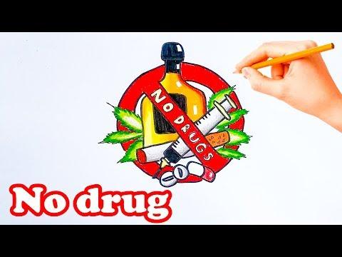 How to Draw against Drug Abuse.No drug.No smoking ,No alcohol. วันต่อต้านยาเสพติด lovely art