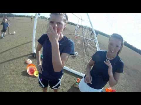 Johnson Girls Soccer Practice  First Person Video