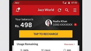 How to Manage Your Jazz & Warid Number with jazz world App Informations screenshot 2