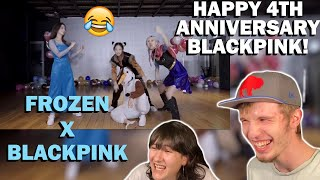 HAPPY 4TH ANNIVERSARY BLACKPINK!! x DISNEY'S FROZEN HYLT DANCE PERFORMANCE (COUPLE REACTION!)
