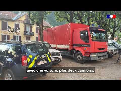 #TempêteAlex L'unité dinstruction et dintervention de la Sécurité civile 7 en renfort du SDIS06