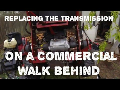 Replace the Transmission on a Commercial Walk Behind Mower
