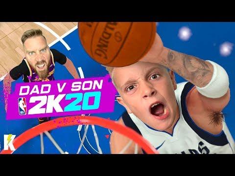 DAD Vs SON In NBA 2k20! (Mavs Vs Lakers) K-CITY GAMING