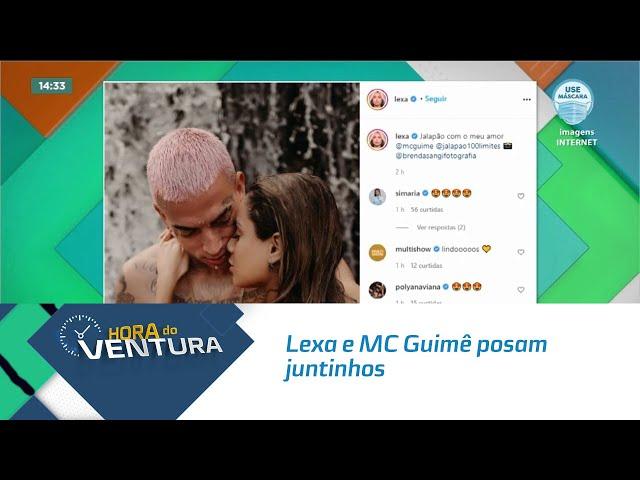 Lexa e MC Guimê posam juntinhos em cachoeira no Jalapão