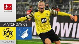 Haaland Shines in Crazy Last Minutes Borussia Dortmund TSG Hoffenheim 3 2 All Goals MD 3