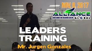 Leaders Training by Mr. Jurgen Daniel Gonzales! Nov. 8, 2017