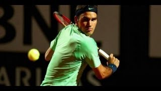 Roger Federer court interview after the win against Gilles Simon - Rome 16 May, 2013