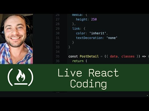 Live React Coding (P5D94) - Live Coding With Jesse