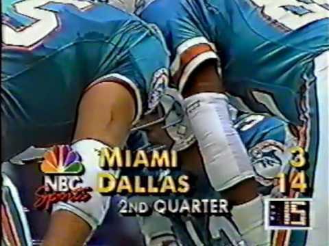 1989 Wk 11 Miami at Dallas Highlights ESPN