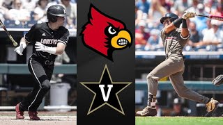 #7 Louisville vs #2 Vanderbilt College World Series Opening Round | College Baseball Highlights