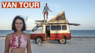 VAN TOUR after 2 years living in this 4x4 CAMPER VAN (LOW TECH and DIY Tips and tricks)