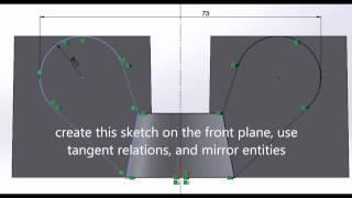 SolidWorks 2013, تعليمي لإنشاء M-16 الجوز الجناح,, الطباعة 3D ready HD