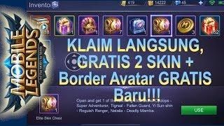 KLAIM SKIN HERO GRAtIS!! DAN BORDER Avatar BARU Mobile Legends GRATIS JUGA!!