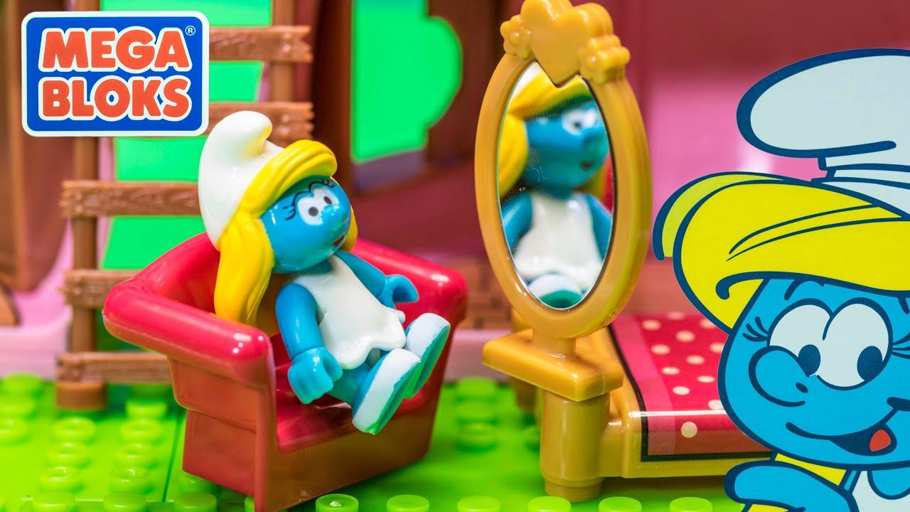 THE SMURFS Mega Bloks Smurfette's House Video Toy Review ...