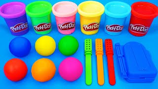 Satisfying Video l How To Make Playdoh Rainbow Ice Cream & Lolipop Cutting ASMR
