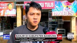 Banjir Di Kabupaten Bandung Sudah Mulai Surut