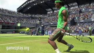 Virtua Tennis 2009 HD video game movie, Murray, Nadal, Federer, Sharapova, Williams and Ivanovic